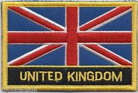 United Kingdom Flag Embroidered Patch Badge - Sew or Iron on