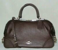 NWT Coach AIDY Pebbled Leather SATCHEL Purse Women Burgundy MSRP$395