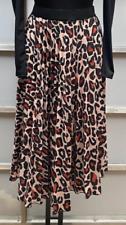 John Zack pleated skirt Animal leopard print 8-14
