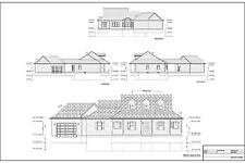Full Set of single story 3 bedroom house plans 1,734 sq ft