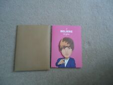 JUSTIN BIEBER  BIRTHDAY CARD FAMOUS FACES FUNNY GREETINGS CARD