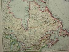 1907 fecha Mapa ~ East Canadá ~ Ontario Quebec Terranova Nuevo Brunswick