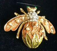 Limited Edition Bee Pin by the Joan Rivers Classics Collection Gold Tone Pearl
