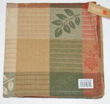 "(6) Lintex 100% Cotton Napkins ~ Stripe Leaves ~ 18"" x 18"" Square NEW"