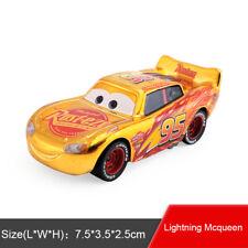 Disney Pixar Cars Gold Plating McQueen Diecast Toy Model Car 1:55 Boys Gifts
