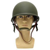 USA Green WW2 Military Steel ABS M1 Helmet WWII Army Equipment + Netting