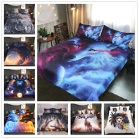 Floral Lion Wolf Elk Animal Comforter Bedding Sets Pillowcase Duvet Quilt Cover