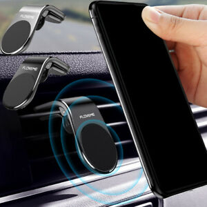 FLOVEME Magnetic Auto Car Phone Holder L Shape Clip Air Vent Mount Accessories