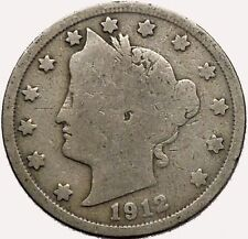 1912 LIBERTY HEAD NICKEL 5 Cent United States of America USA Antique Coin i43568