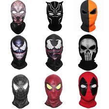 Spider-Man Venom Iron Man Halloween Face Mask Balaclava Helmet Cosplay Costume