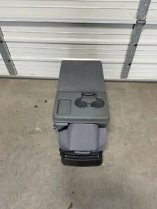 2009-2014 FORD F150 PICKUP Front Center Jump Seat Console Gray Cloth