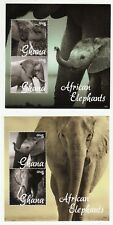 Ghana: African Elephants: 4 unmounted mint miniature sheets, 2014