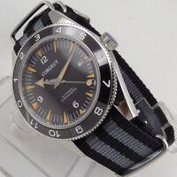 41mm CORGEUT Black Dial Sapphire Glass miyota 821A Automatic Movement mens Watch