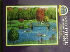 """Bits and Pieces Gold Seal Puzzle 550 Piece  """"Swan Lake"""" Christopher Gurshin"""