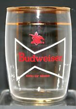 "ANHEUSER BUSCH BR. CO. ST. LOUIS,MO. VINTAGE 1960's A.C.L. ""BARREL"" BEER GLASS"