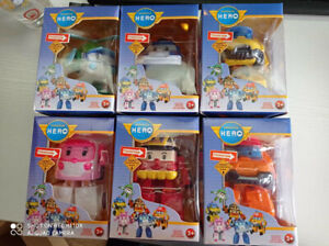 6Pcs Transformer Toys Kids  Robot Action Figure Car Toy Boxed Topy Gift