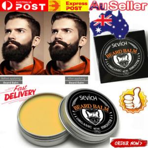 Beard Balm Wax Mustache Hair Growth Conditioner Care Soft Cream Moisturizing AU~