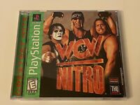 🔥WCW NITRO HOGAN STING PS1 PlayStation 1 PSX 💯COMPLETE MINT RARE GH LABEL GAME