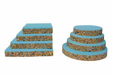 Upholstery Foam Cushion Bar Seats High Density Bonded Layer Pads ROUND or SQUARE