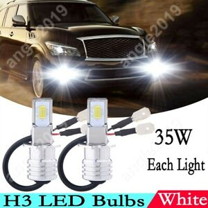2x H3 LED OEM Upgrade Fog/Driving Light Bulbs Replacement Bright White 6000K NEW