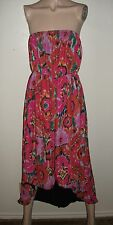 NWT SWEET PEA BY STACY FRATI FUSCHIA GEOMETRIC ASYMETRIC DRESS~SIZE SMALL