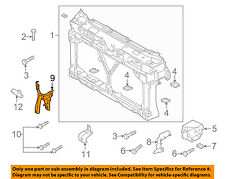 MAZDA OEM 10-13 3 Radiator Core Support-Center Hood Lock Latch Support BBM45215Y