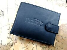 Mens Luxury Soft Quality Leather Wallet Purse Credit Cards  New Black Uk