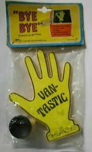 "New Old Stock Vintage Suction Cup Waving Hand ""VANTASTIC"""