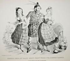 ECOSSE Henry Heath LITHOGRAPHIE Mc Lean Kohler CARICATURE Satire Humour 1837