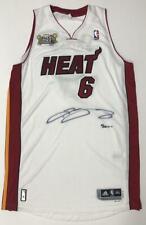 LEBRON JAMES Autographed Miami Heat 2013 Champion Patch Jersey UDA LE 6/25