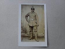 Soldat Offizier m. Pickelhaube Degen mit Portepee wohl Preussen