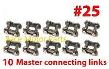 TEN MASTER CONNECTING LINKS #25 FOR ROLLER CHAIN #25 47cc 49cc goped pocket bike