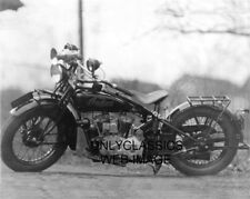 1928 Indian V-Twin Police Motorcycle 8X10 Photo Massachusetts License  00004000 Plate Cop