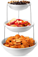 Collapsible Appetizer Serving Tray Bowl Platter Party 3 Tier Snacks Salad Fruits