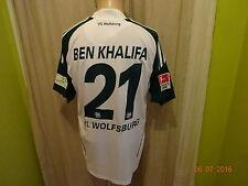 "VfL Wolfsburg Adidas Matchworn Trikot 2010/11 ""VW"" + Nr.21 BEN KHALIFA Gr.M"