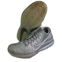 Nike Mens Size 8.5 Zoom Mike Trout Turf Training Gray White Baseball Shoes