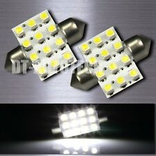 20X 6000K Xenon White SMD 12-LED Map/Dome Interior Lights Bulbs 31MM Festoon