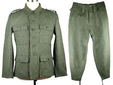 WWII GERMAN M43 WH EM  FIELD-GREY WOOL UNIFORM JACKET AND TROUSERS SIZE L-33101