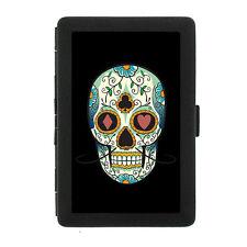 Black Metal Cigarette Case Holder Box Skull Design-016 Sugar Skull Tattoo