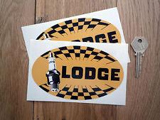 "Lodge candele vecchio stile alterno Ovale Adesivi Auto 5,5 ""bici corsa Racing"