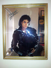 MICHAEL JACKSON SIGNED WALL MIRROR BAD ERA UNIQUE VERY RARE COLLECTORS ITEM