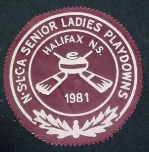 Vintage Jacket Patch SENIOR LADIES PLAYDOWN N.S.L.C.A. CURLING HALIFAX NS 1981