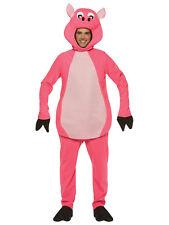 PINK PIG ADULT Costume HALLOWEEN MENS WOMENS FARM ANIMAL NEW