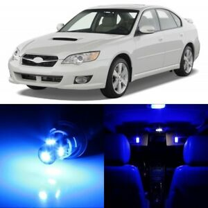 10 x Ultra Blue Interior LED Lights Package For 2000 - 2009 Subaru Legacy +TOOL