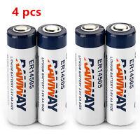 3.6V AA 2400mAh Lot 4pc Li-ion Battery Lithium Battery ER14505 LS14500 Li-soci2