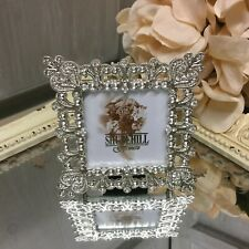 Polished Silver Filigree Mini Frame 2 X 3 Photo Picture Shabby Chic Gift