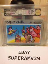 DONKEY KONG JR SILVER BOX W/ BARCODE AND FF LOGO JAPAN VGA 90+ ARCHIVAL CASE