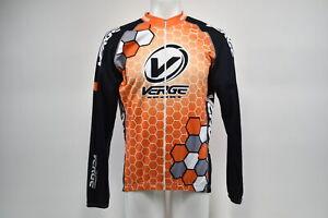 Verge Men's 3XL Elite Race Long Sleeve Thermal Cycling Jersey Orang/Blk
