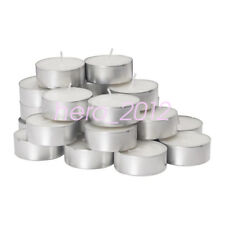 IKEA GLIMMA Large 24x Tealight Candles Unscented Home Holiday Party Decor White
