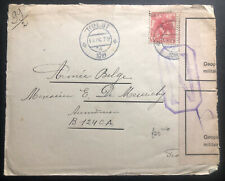 1916 Hulst Netherlands WW1 Censored Cover To Belgian Military Fieldpost